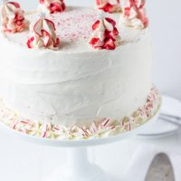 Peppermint White Chocolate Cake
