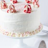 Peppermint White Chocolate Cake