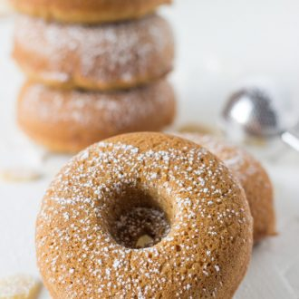 Coconut Ginger Baked Donuts