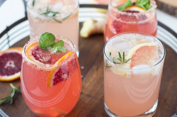 Recipes for 2 Sparkling Grapefruit Cocktails | BlahnikBaker.com