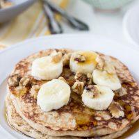 Dairy Free Whole Wheat Banana Walnut Pancakes