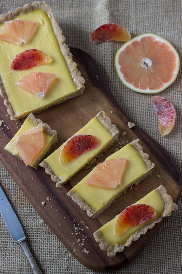 Winter Citrus Tart - so creamy, tart and delicious!