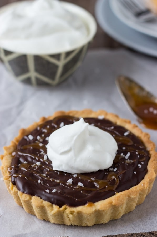 Caramelized Dark Chocolate Tart