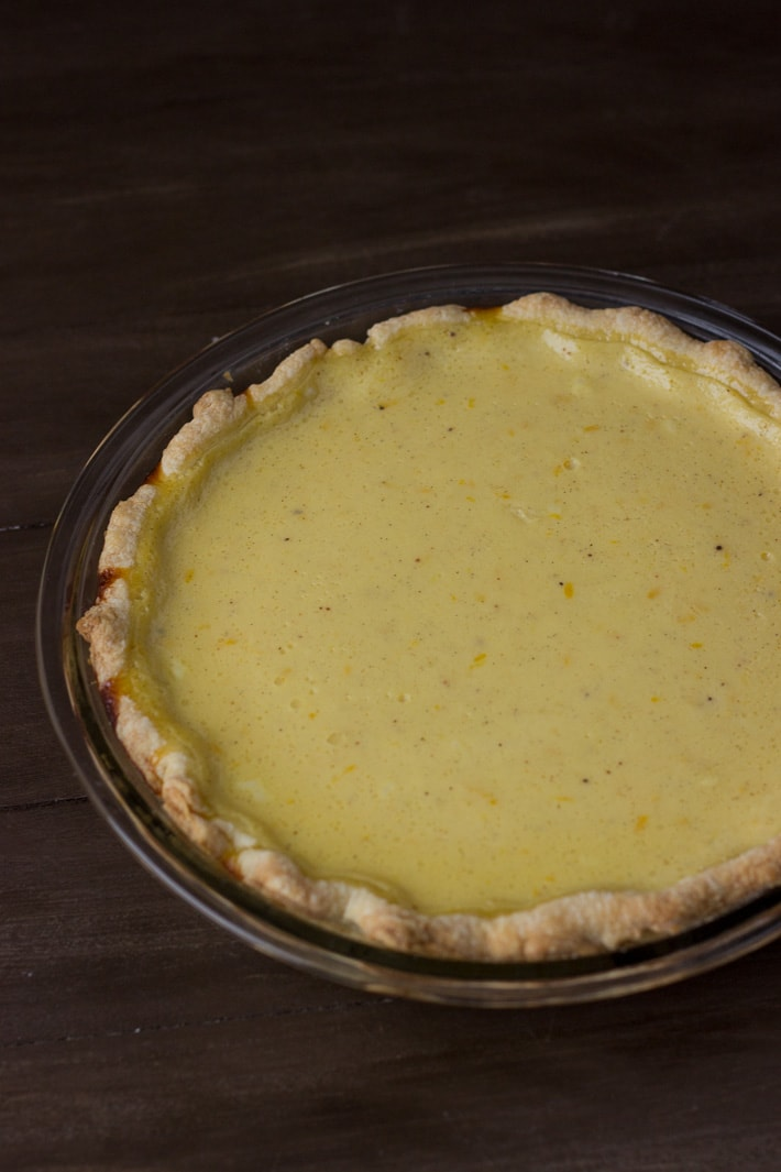 Meyer Lemon Buttermilk Pie