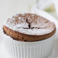 Chocolate Almond Souffle