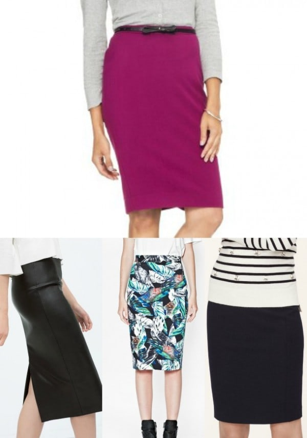 pencil skirt Collage