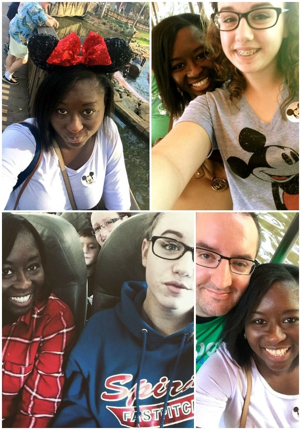 disney world selfie collage