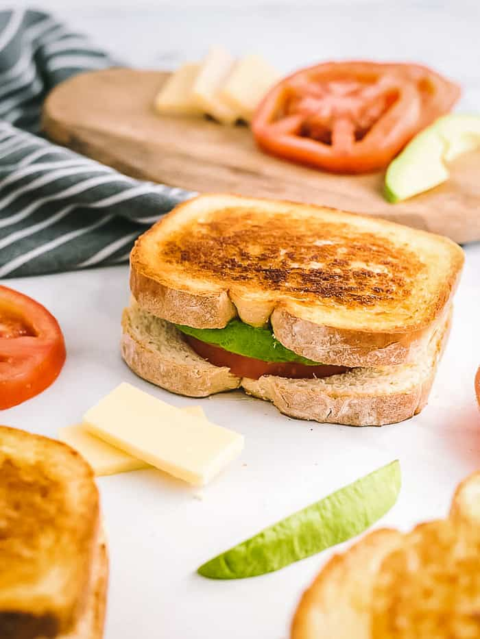 Avocado Tomato Grilled Cheese Sandwich A Classic Twist