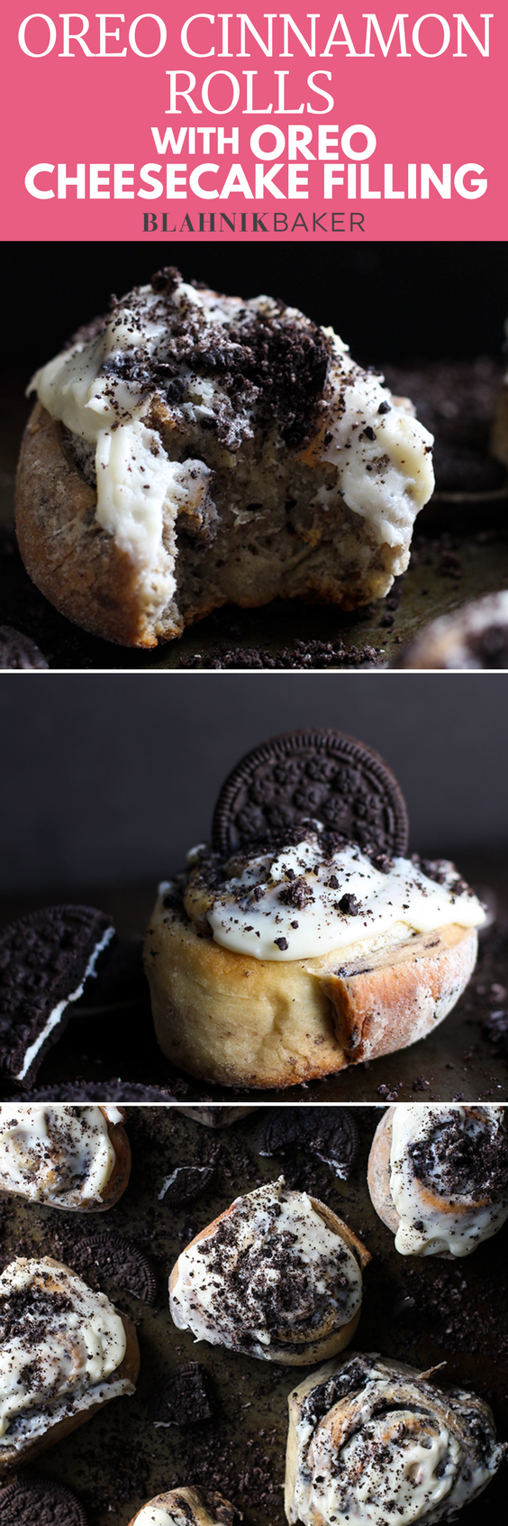 These Oreo Cinnamon Rolls have all the workings of regular cinnamon rolls but are swirled with incredible--and decadent--Oreo cheesecake filling.