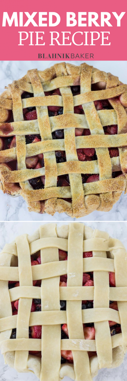 Mixed berry pie begins with a buttery, flaky pie crust, then it's packed with a mixture of fresh berries.