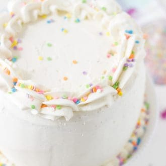 Classic Vanilla Bean White Layer Cake