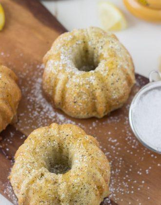Lemon Almond Tea Cakes - tea bite cakes with fresh lemon zest, black tea and almond meal!