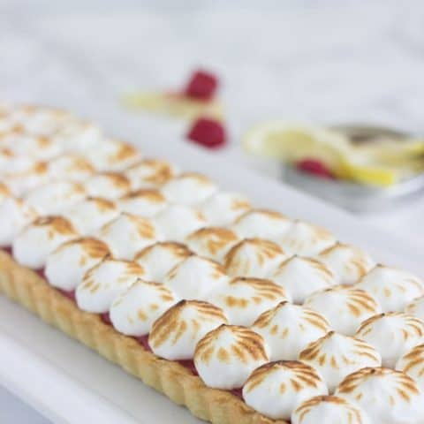 Raspberry Lemon Meringue Tart