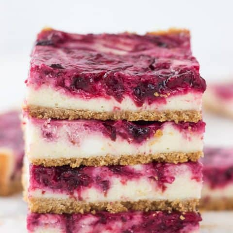 Cherry Lime Cheesecake Bars