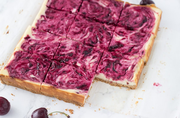 Cherry Lime Cheesecake Bars-3