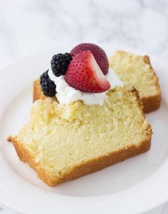 Meyer Lemon Angel Food Cake