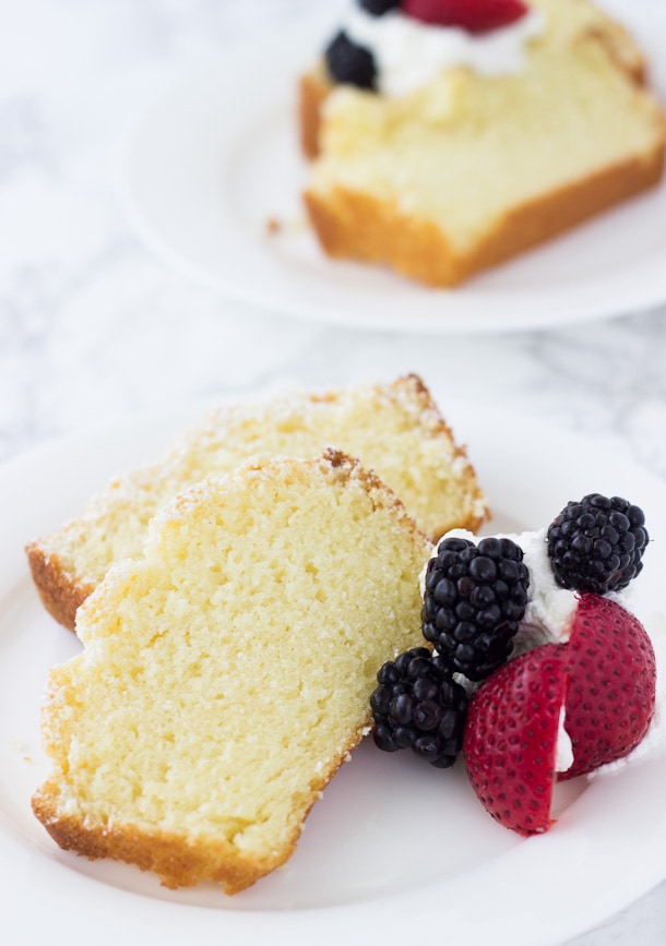 A sensational soft and moist meyer lemon pound cake!