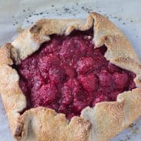 Raspberry Vanilla Bean Galette