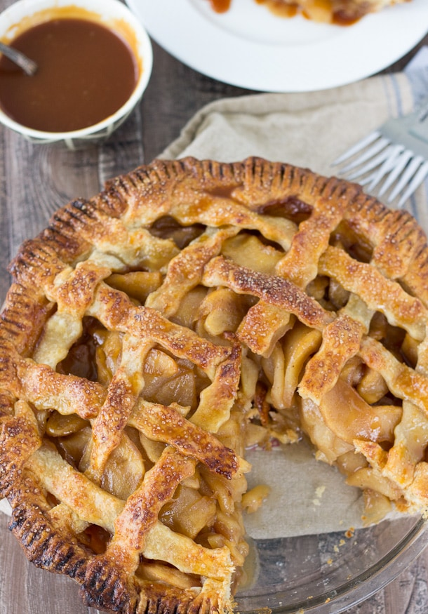 Caramel Apple Pie with Cheddar