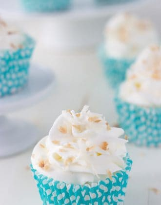 Coconut Angel Food Cupcakes