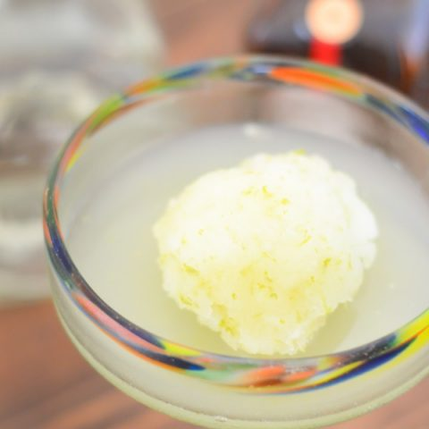 Margarita Sorbet Cocktail