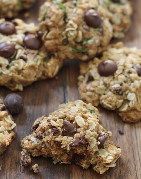 Zucchini Coconut Chocolate Chip Cookies