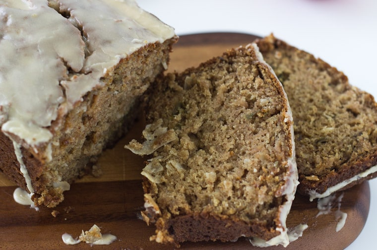 This coconut apple bread is a simple quick bread recipe that is gluten free and filled with crunchy goodness.