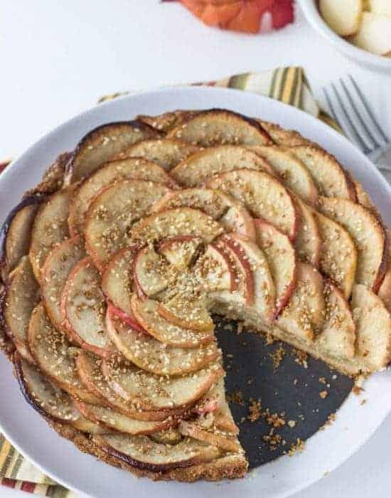 Apple Tart with Toasted Sesame Seeds