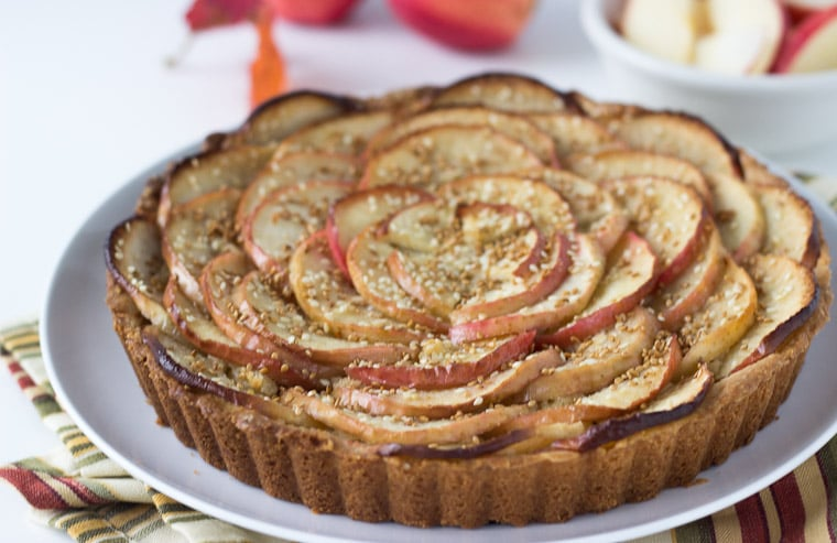 Apple Tart with Toasted Sesame Seeds