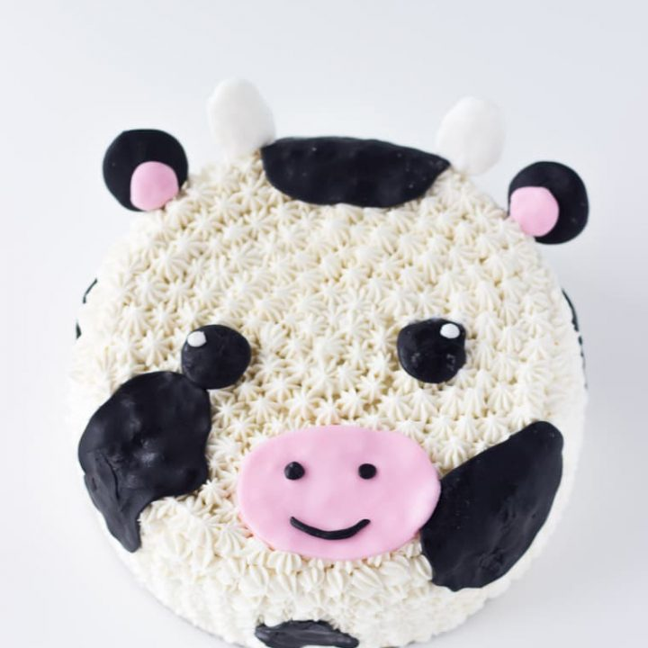 Wondrous Decorated Cow Cake Recipe A Classic Twist Funny Birthday Cards Online Overcheapnameinfo
