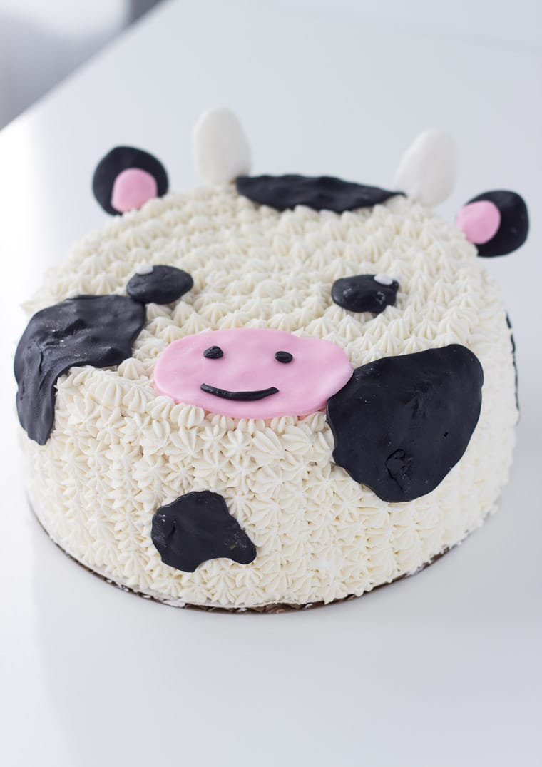 Sensational Decorated Cow Cake Recipe A Classic Twist Funny Birthday Cards Online Overcheapnameinfo