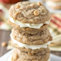 Pumpkin Butterscotch Cookie Sandwiches