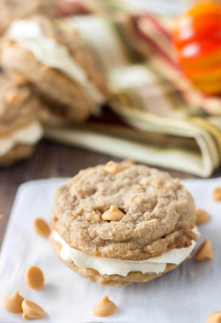 Pumpkin Butterscotch Cookie Sandwich-2