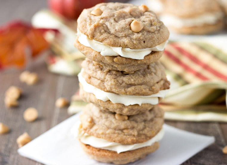 Pumpkin Butterscotch Cookie Sandwich-3