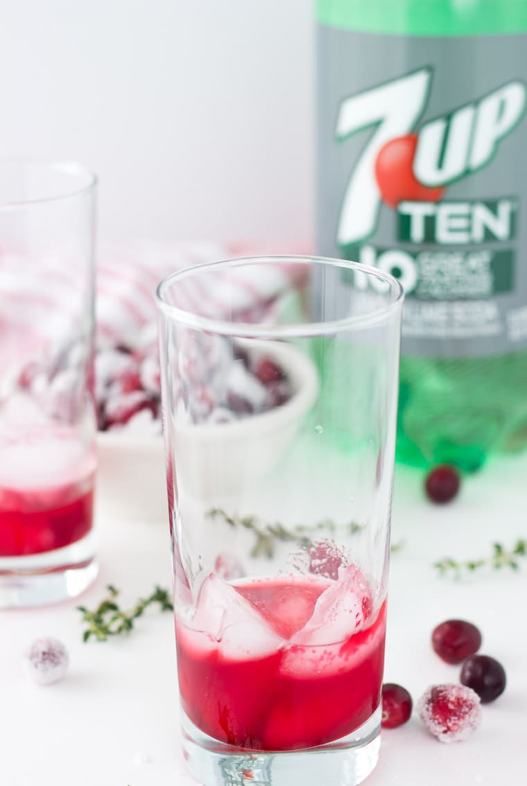 Cranberry Thyme Sparklers