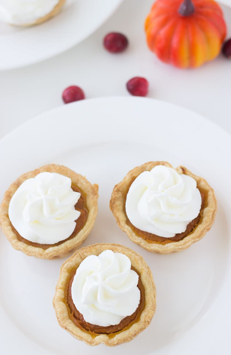 These Mini Pumpkin Pies are your favorite holiday classic, Pumpkin Pie Recipe - in a miniature enjoyable form.
