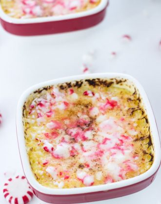 Peppermint White Chocolate Creme Brulee