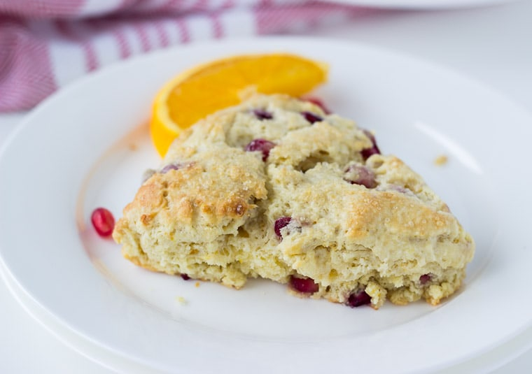 Pomegranate Orange Scones - a buttery, soft and winter scone.