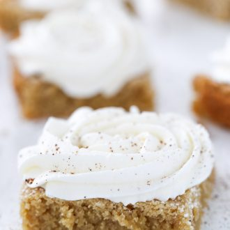 Browned Butter Eggnog Cookie Bars