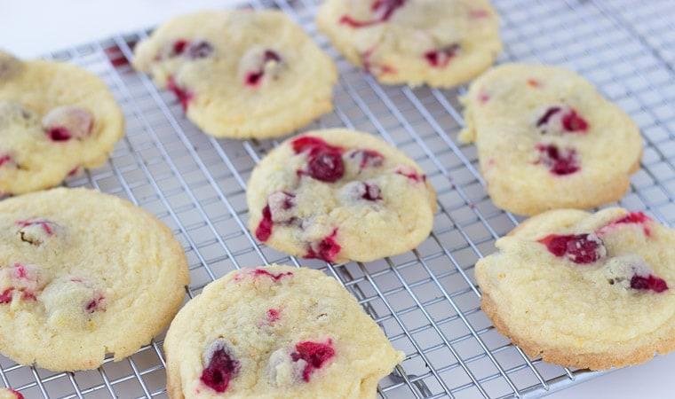 Cranberry Orange Vanilla Cookies