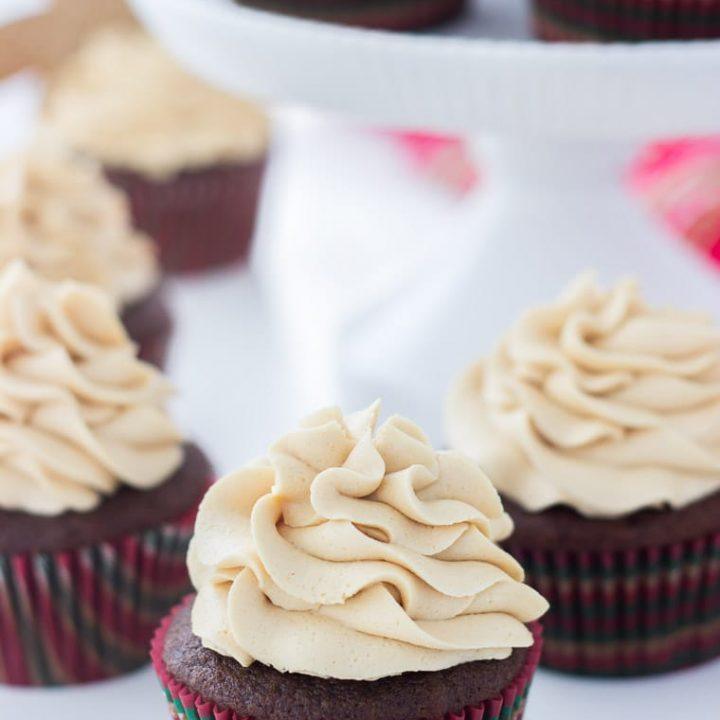 Gingerbread Latte Cupcakes with Molasses Buttercream