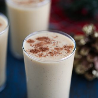 Pumpkin Eggnog with Bourbon