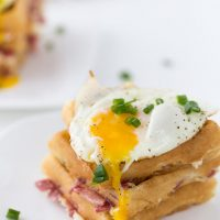 Cheddar and Bacon Waffles