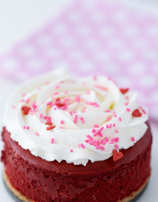 Mini Red Velvet Cheesecake - rich and creamy recipe
