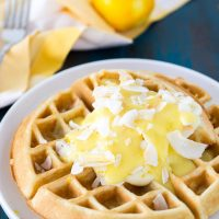 Coconut Crème Waffles