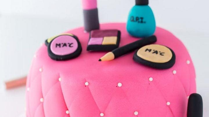 Tremendous Makeup Cake A Classic Twist Funny Birthday Cards Online Elaedamsfinfo