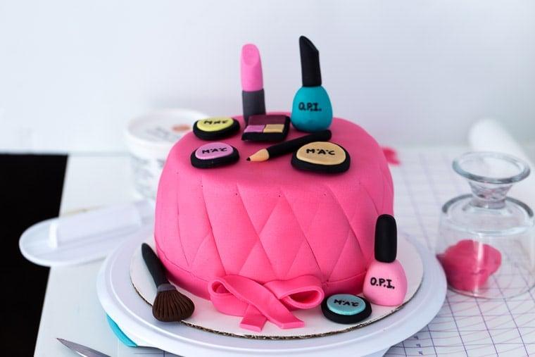 Makeup Cake prep-5