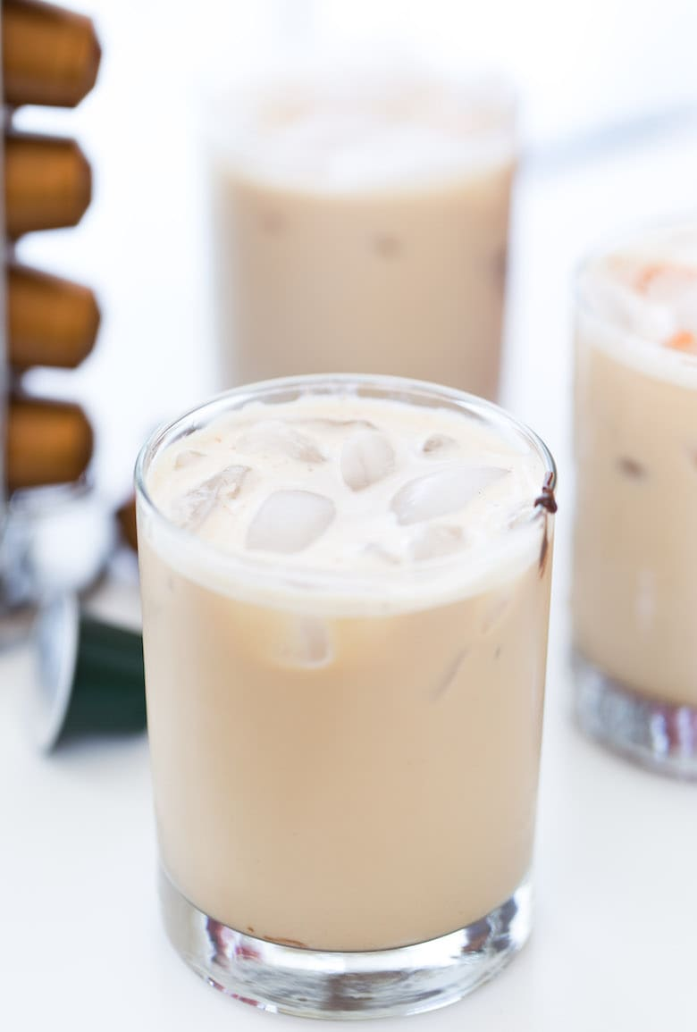 This refreshing cup of Mexican Iced Coffee combines a dash of chocolate with a hint of spice for a simple sweet treat.