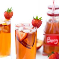 Strawberry Peach Iced Tea