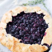 Blueberry Thyme Galette